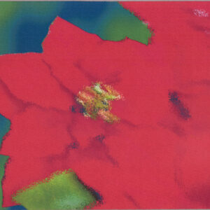 Abstract Poinsettia Mousepad USA