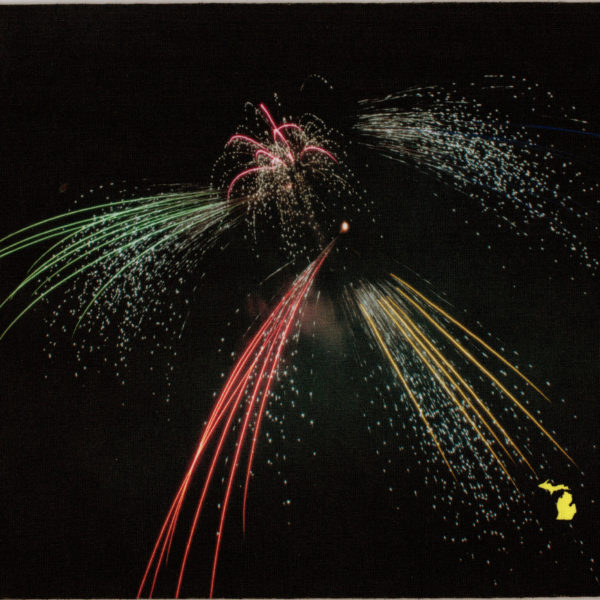 Fireworks in Michigan Mousepad