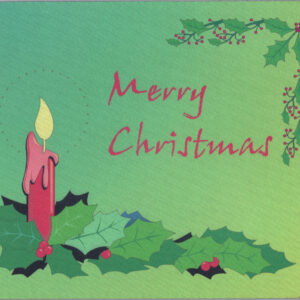 Merry Christmas Mousepad USA