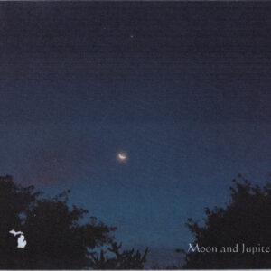 Moon and Jupiter Southeastern Michigan Mousepad